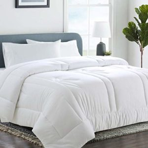 Egyptian 100/% Cotton Shell TC600 Breathable Best Hotel Quality Warm and Cozy Super Soft Twin Lightweight and Temperature-Regulating Luxury 100/% Organic Bamboo Comforter 64x86 Hypoallergenic